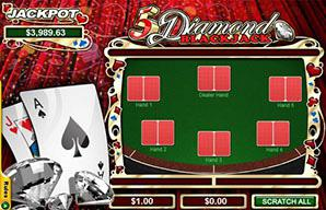 Play 5 Diamond Blackjack
